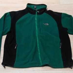 VTG The North Face Men's Sweater Size Large Green